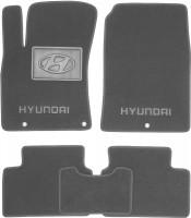 Коврики в салон для Hyundai i30 PD '17-, текстильные, серые (Люкс)
