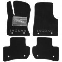 Коврики в салон для Jaguar F-Pace '16- без перемычки текстильные, черные (Люкс)