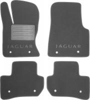 Коврики в салон для Jaguar F-Pace '16- без перемычки текстильные, серые (Люкс)