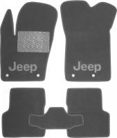 Коврики в салон для Jeep Renegade '16-, текстильные, серые (Люкс)