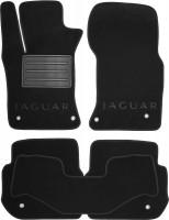Коврики в салон для Jaguar XF '15-, текстильные, черные (Люкс)