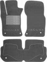 Коврики в салон для Jaguar XF '15-, текстильные, серые (Люкс)