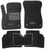 Коврики в салон для Opel Insignia '17-, текстильные, серые (Люкс) 4 клипсы