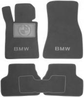 Коврики в салон для BMW 5 G30 '17- текстильные, серые (Премиум)