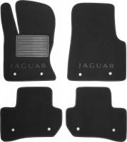 Коврики в салон для Jaguar F-Pace '16-  текстильные, черные (Премиум)