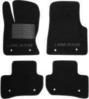 Коврики в салон для Land Rover Range Rover Velar '17- текстильные, черные (Премиум)