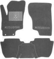 Коврики в салон для Mitsubishi Outlander '16- PHEV текстильные, серые (Премиум)