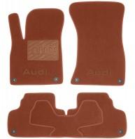 Коврики в салон для Audi Q5 '17- текстильные, терракотовые (Премиум) 8 клипс