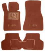Коврики в салон для BMW 5 G30 '17- текстильные, терракотовые (Премиум)