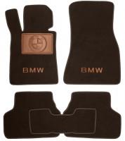 Коврики в салон для BMW 5 G30 '17- текстильные, коричневые (Премиум)