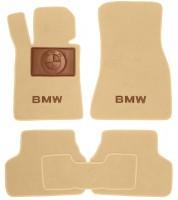 Коврики в салон для BMW 5 G30 '17-  текстильные, бежевые (Премиум)