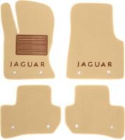 Коврики в салон для Jaguar F-Pace '16-, текстильные, бежевые (Премиум)