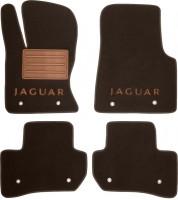Коврики в салон для Jaguar F-Pace '16- текстильные, коричневые (Премиум)