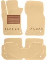 Коврики в салон для Jaguar XF '15-  текстильные, бежевые (Премиум)