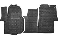 Коврики в салон для Volkswagen Crafter '17- резиновые, черные (AVTO-Gumm)