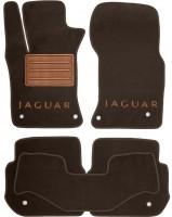 Коврики в салон для Jaguar XF '15- текстильные, коричневые (Премиум)