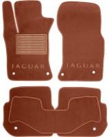 Коврики в салон для Jaguar XF '15- текстильные, терракотовые (Премиум)