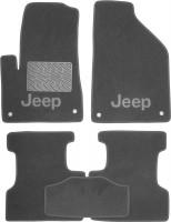 Коврики в салон для Jeep Cherokee '14- текстильные, серые (Премиум)