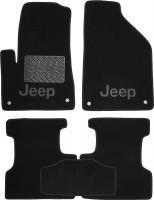 Коврики в салон для Jeep Cherokee '14- текстильные, черные (Премиум)
