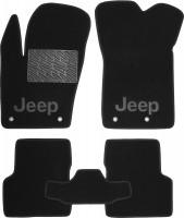 Коврики в салон для Jeep Renegade '16- текстильные, черные (Премиум)