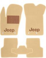 Коврики в салон для Jeep Renegade '16-  текстильные, бежевые (Премиум)