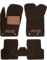 Коврики в салон для Jeep Renegade '16- текстильные, коричневые (Премиум)