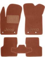 Коврики в салон для Jeep Renegade '16- текстильные, терракотовые (Премиум)