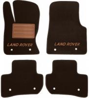 Коврики в салон для Land Rover Range Rover Velar '17- текстильные, коричневые (Премиум)