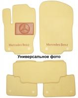 Коврики в салон для Mercedes CLS-Class C218 '10- текстильные, бежевые (Премиум) 2 клипсы