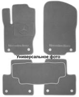 Коврики в салон для Mercedes CLS-Class C218 '10- текстильные, серые (Премиум) 2 клипсы