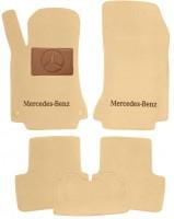 Коврики в салон для Mercedes GLA X156 '13-  текстильные, бежевые (Премиум) 2 клипсы