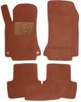Коврики в салон для Mercedes GLA X156 '13- текстильные, терракотовые (Премиум) 2 клипсы