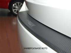 Накладка с загибом на бампер карбон для Peugeot 308 '14- Универсал (Premium+k)