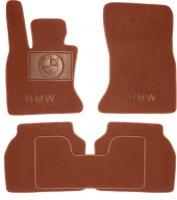 Коврики в салон для BMW 5 F07 GT '09- текстильные, терракотовые (Премиум)