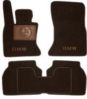 Коврики в салон для BMW 5 F07 GT '09- текстильные, коричневые (Премиум)