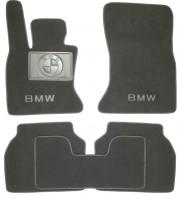 Коврики в салон для BMW 5 F07 GT '09- текстильные, серые (Люкс)