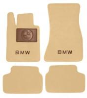 Коврики в салон для BMW 6 G32 GT '17- текстильные, бежевые (Премиум)