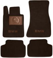Коврики в салон для BMW 6 G32 GT '17- текстильные, коричневые (Премиум)