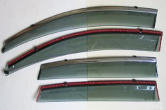 Дефлекторы окон для Honda CR-V '12-17 дымчатые, с хром. молдингом (ASP)