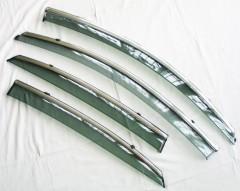 Дефлекторы окон для Hyundai Accent '17- дымчатые, с хром. молдингом (ASP)