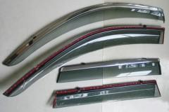 Дефлекторы окон для Chevrolet Captiva '09- дымчатые, с хром. молдингом (ASP)