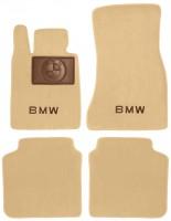 Коврики в салон для BMW 7 G11 '15- текстильные, бежевые (Премиум)