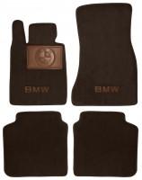 Коврики в салон для BMW 7 G11 '15- текстильные, коричневые (Премиум)