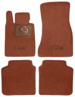 Коврики в салон для BMW 7 G11 '15- текстильные, терракотовые (Премиум)
