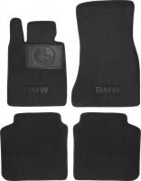 Коврики в салон для BMW 7 G11 '15- текстильные, черные (Люкс)