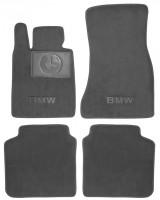 Коврики в салон для BMW 7 G11 '15-  текстильные, серые (Люкс)