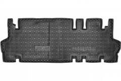 Коврики в салон для Peugeot Traveller 2016- резиновые, черные, 3 ряд  (AVTO-Gumm)