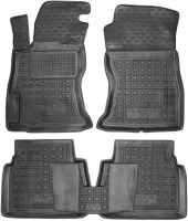 Коврики в салон для Subaru XV 2017- резиновые, черные (AVTO-Gumm)