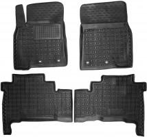 Коврики в салон для Toyota Land Cruiser 200 '12- резиновые, черные (AVTO-Gumm)