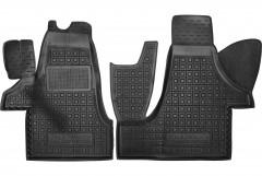 Коврики в салон для Volkswagen Transporter T5 '10-15 (1+2), резиновые, черные (AVTO-Gumm)